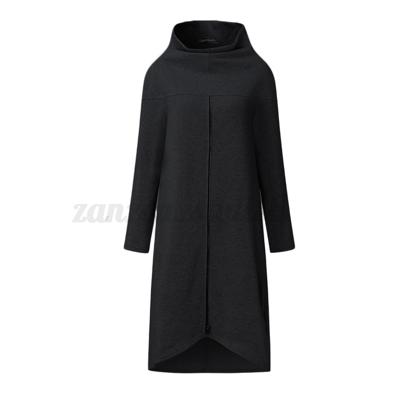 ZANZEA-8-24-Women-Pullover-Top-Long-Sleeve-High-Neck-Plus-Size-Sweatshirt-Dress