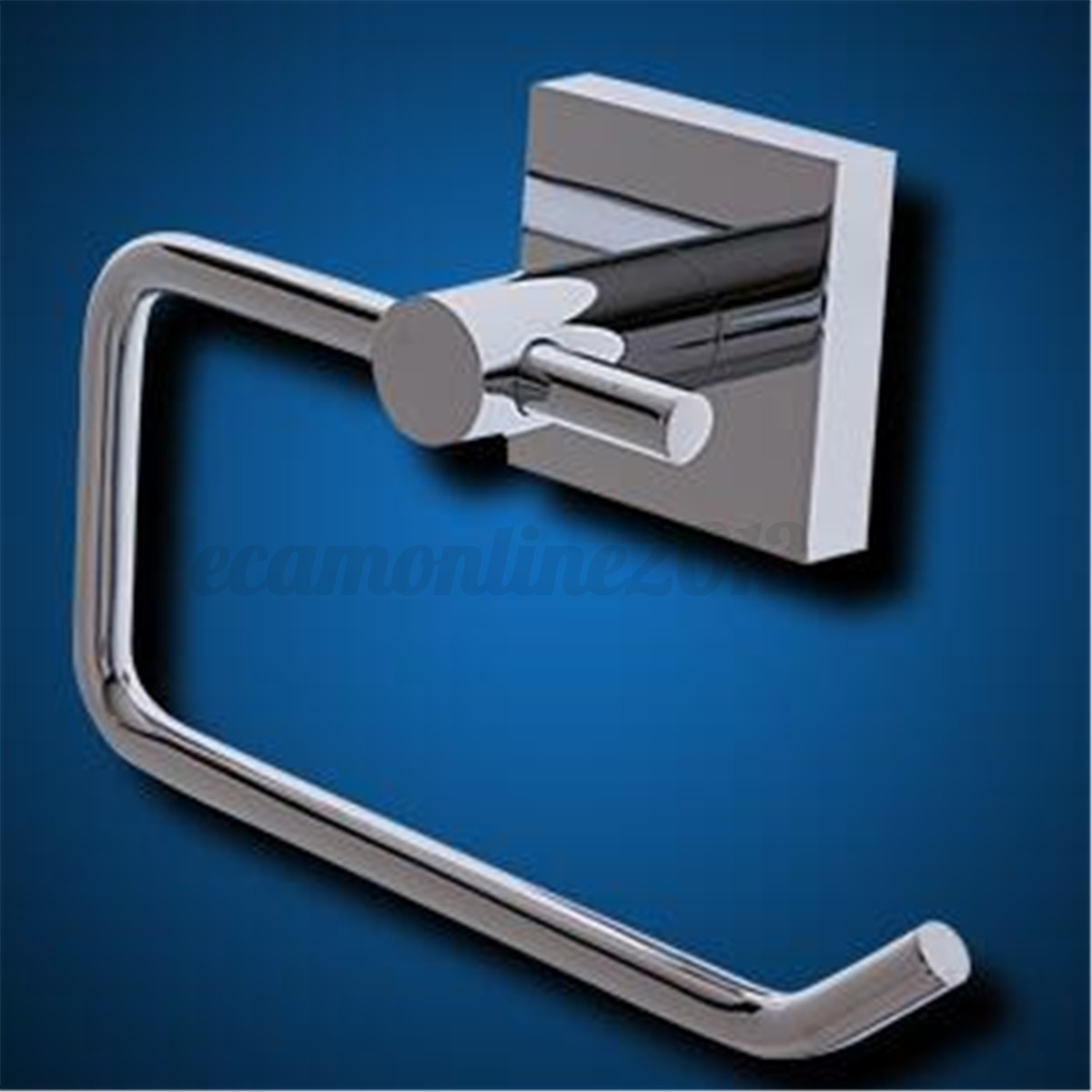 Stainless steel chrome bathroom toilet paper roll tissue holder bar wall mounted cad - Tissue holder bathroom ...