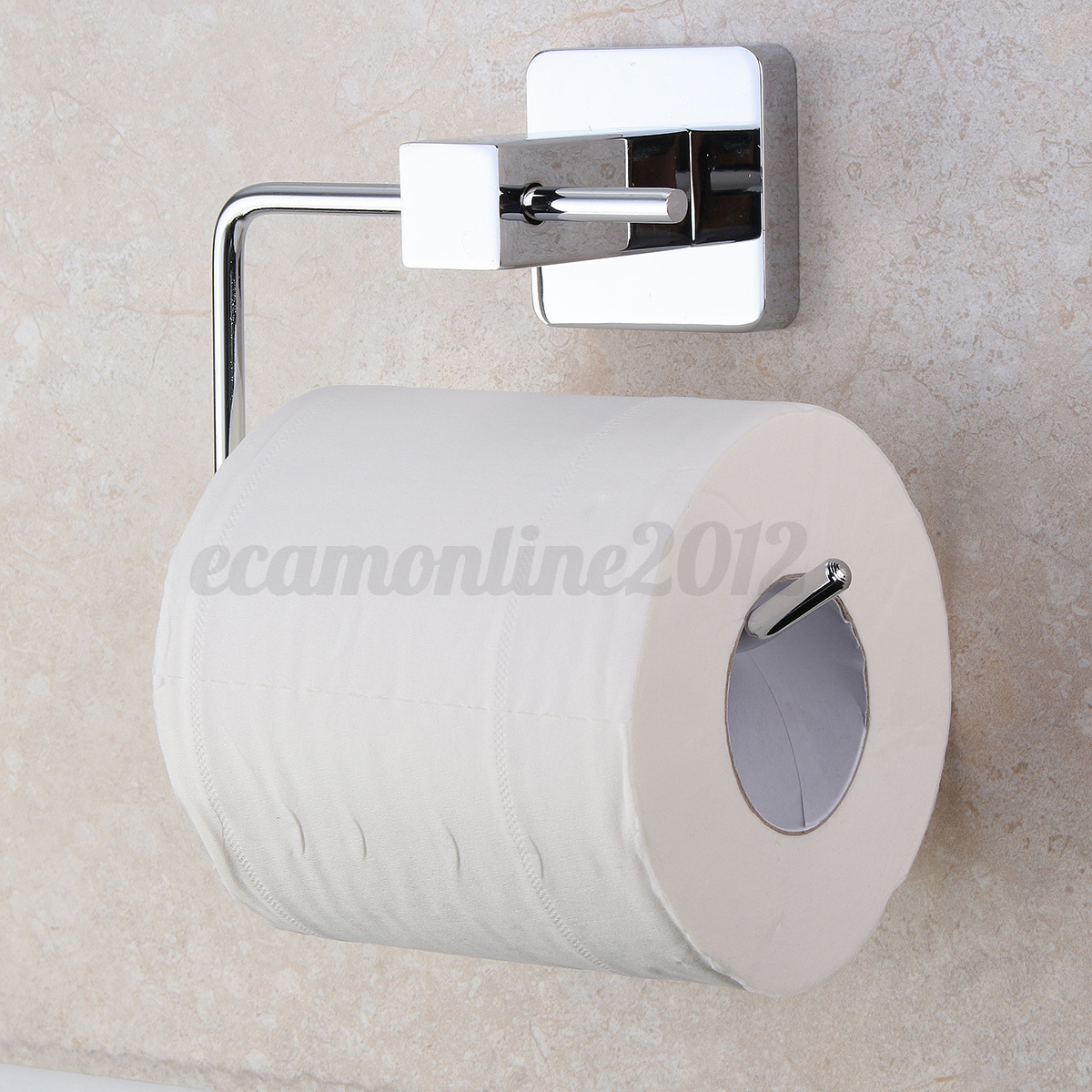 Stainless steel chrome bathroom toilet paper roll tissue holder bar wall mounted - Tissue holder bathroom ...