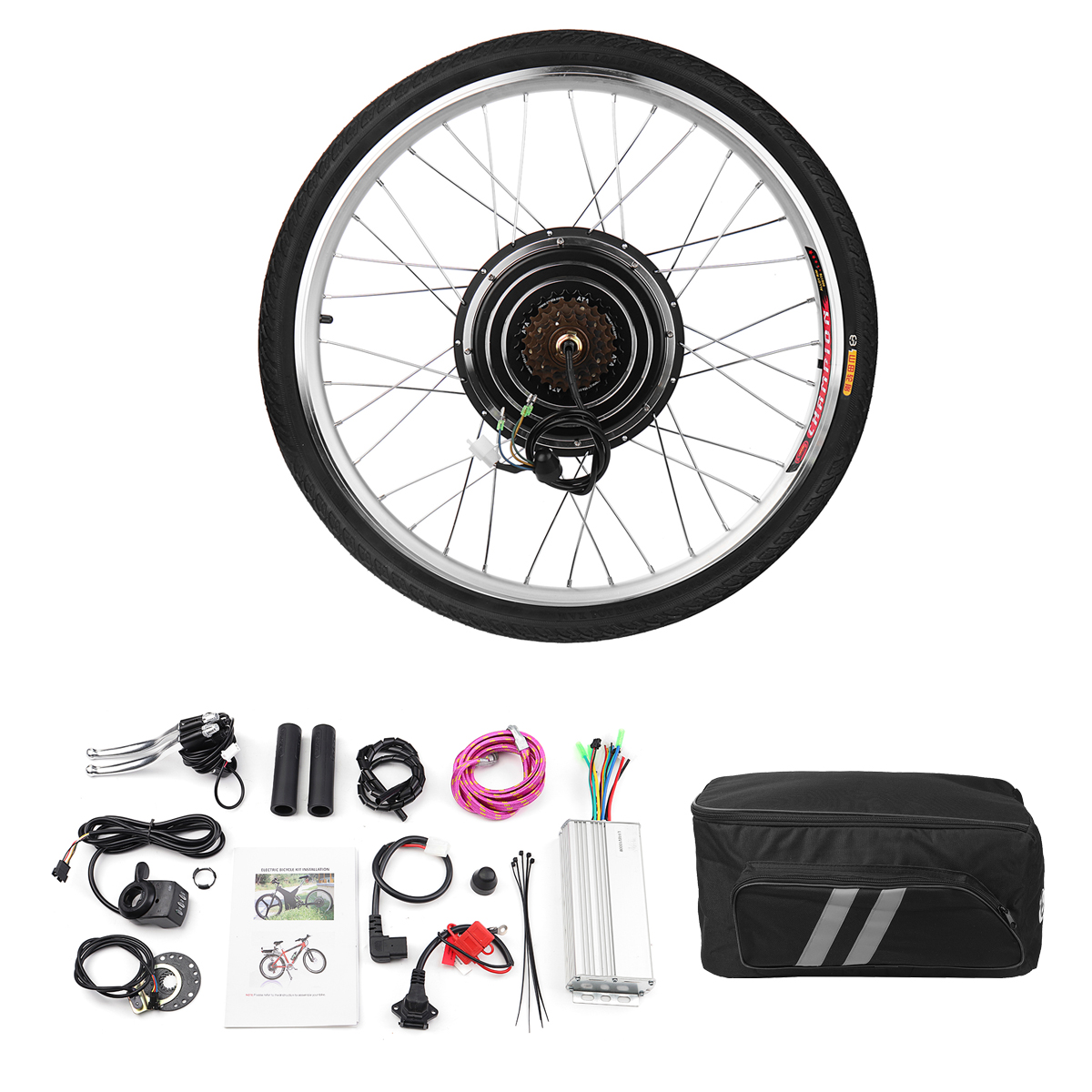 "26"" 1000W Rear Wheel 48V Electric Bicycle Bike Motor Conversion Kit Hub Cycling 611165990626 