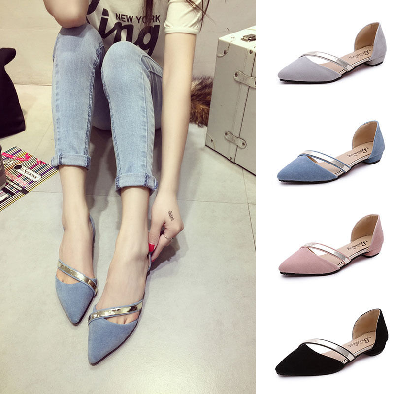 Fashion Women's Vintage Casual Ballerina Pointed Toe ...