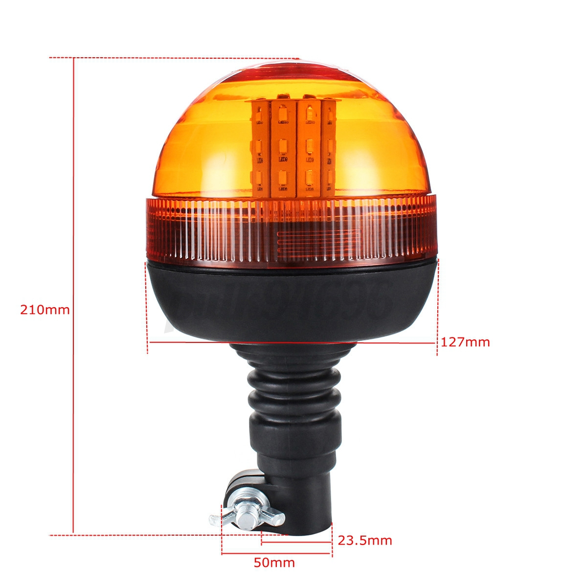 40 LED Rotating Flashing Amber Beacon DIN Pole