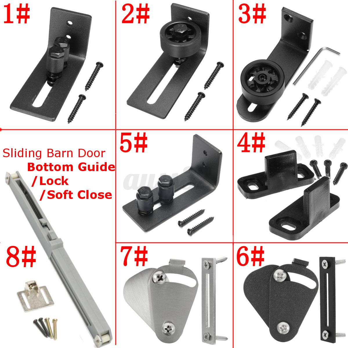 8 Types Wall Mount Floor Bottom Guide Sliding Barn Door