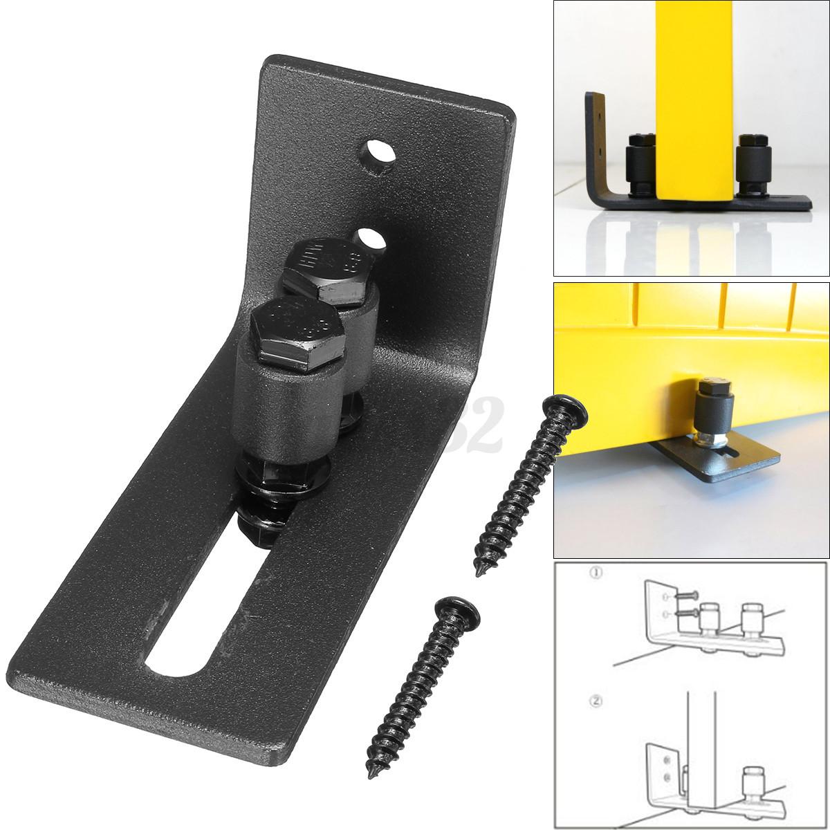 8 types wall mount floor bottom guide sliding barn door for Sliding barn door rollers