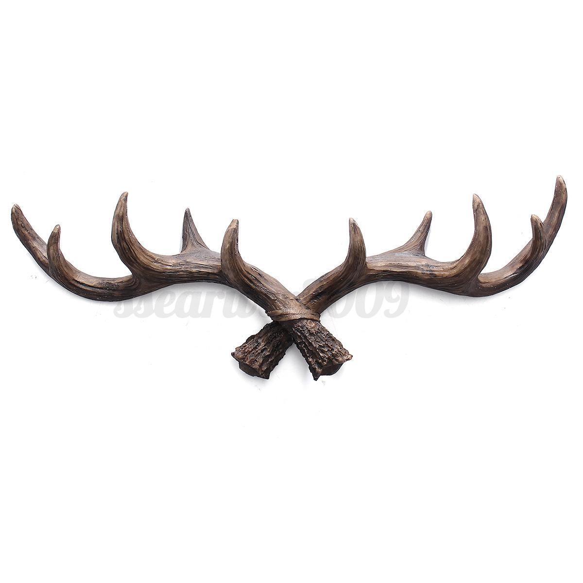 Modern Deer Antler Hook Hat Coat Bag Wall Hanger Rack
