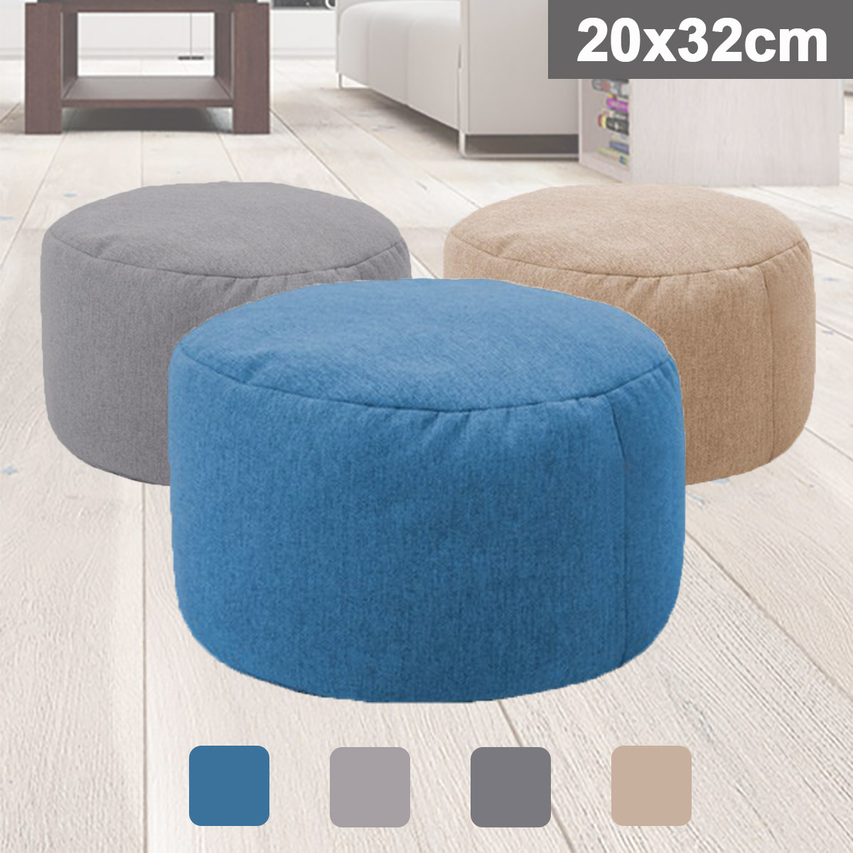 Details About Bean Bag Footstools Foot Rest Stool Pouffe Ottoman Living Room Furniture Seat
