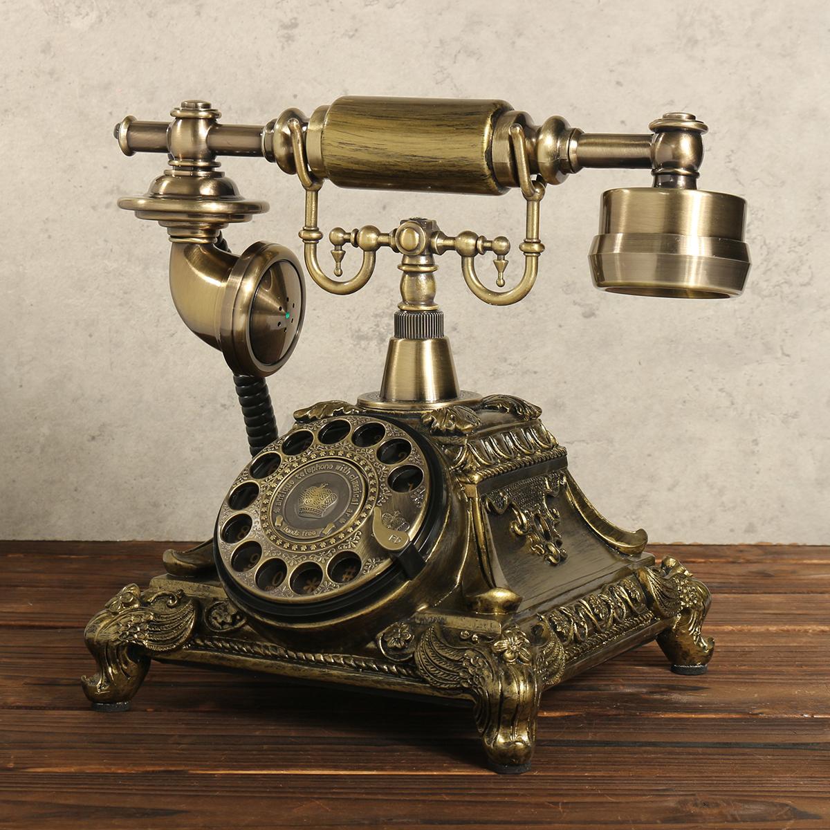 vintage rotary t l phone fixe cadran rotatif main libre old phone bureau ancien ebay. Black Bedroom Furniture Sets. Home Design Ideas