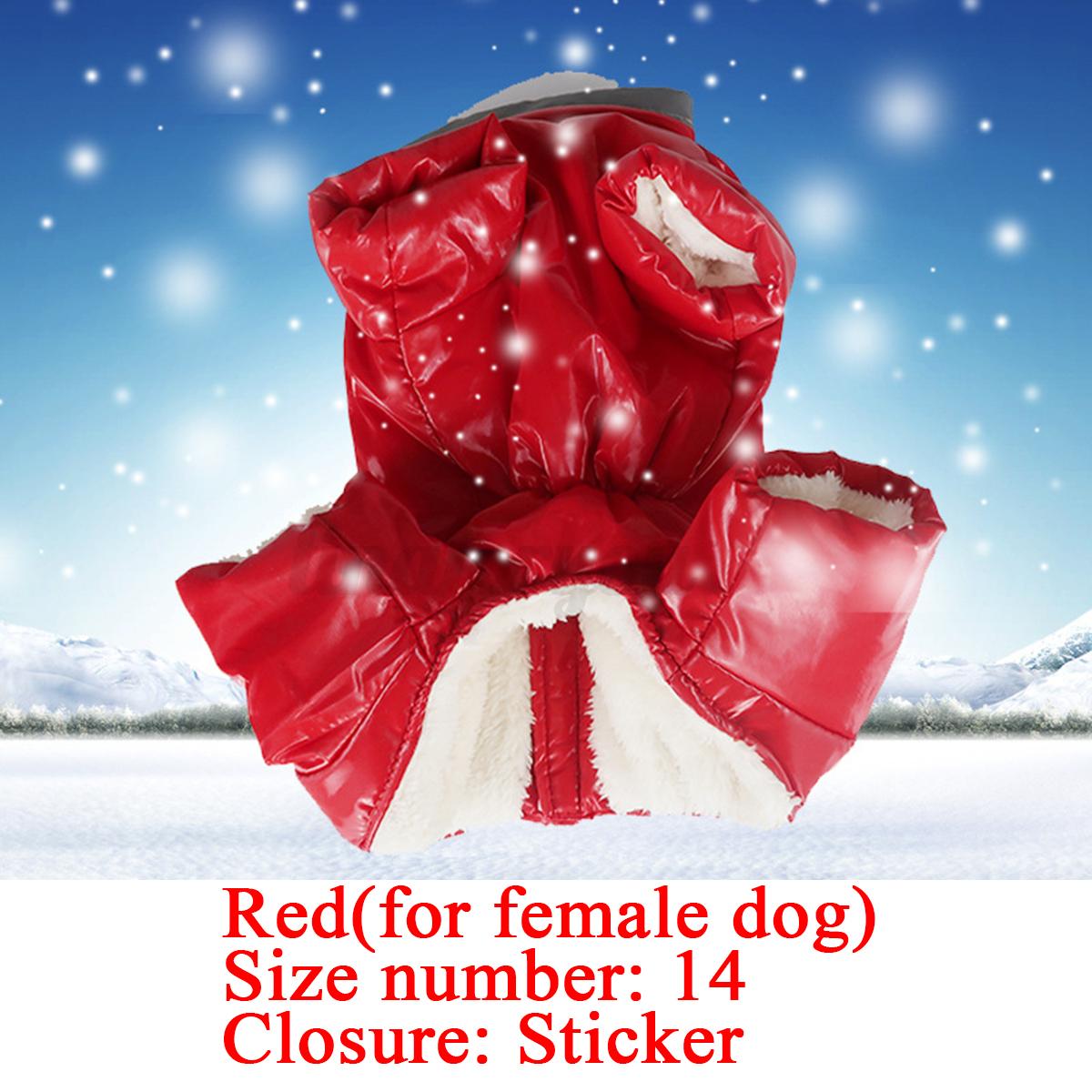 Dog-Winter-Coat-Waterproof-Pet-Fleece-Clothes-Jacket-Snowsuit-Pyjamas-Outfit thumbnail 15