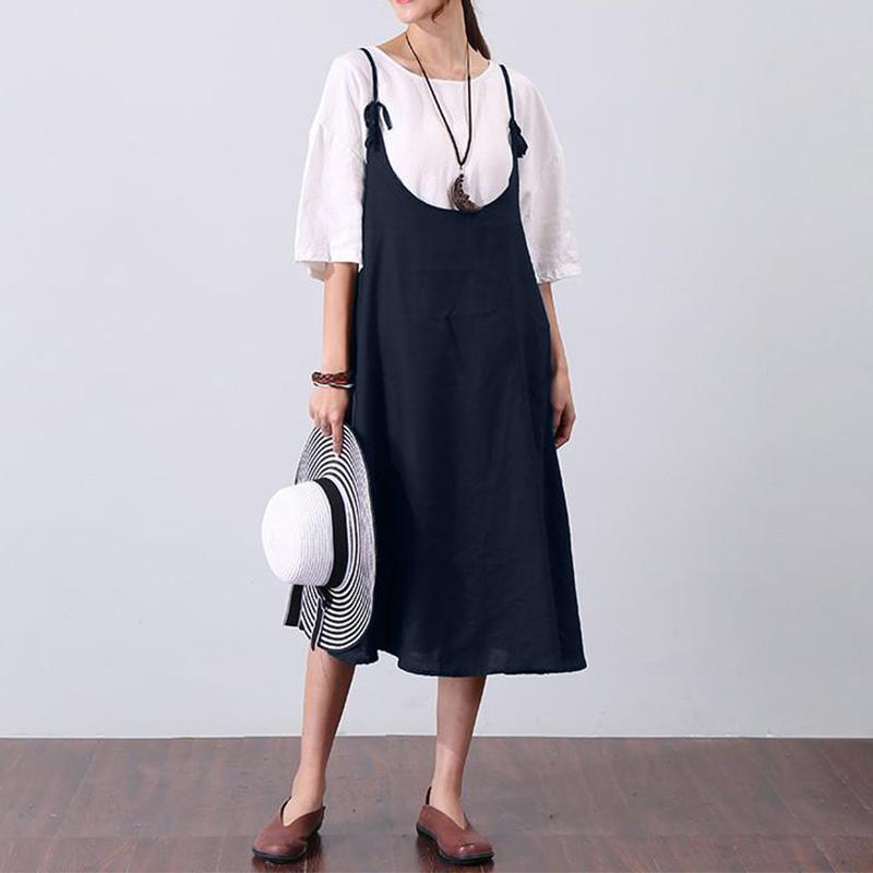 ZANZEA-8-24-Women-Strappy-Boho-Sundress-Overalls-Dungarees-Skirt-Plus-Size-Dress