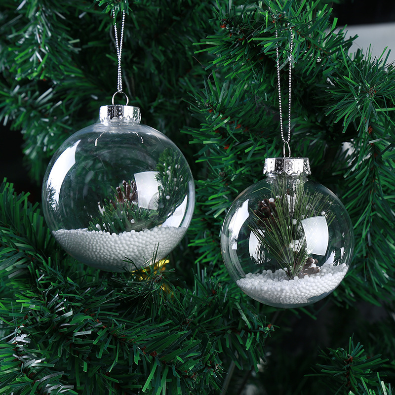 6 15cm seamless clear diy baubles shatterproof plastic for B m xmas decorations