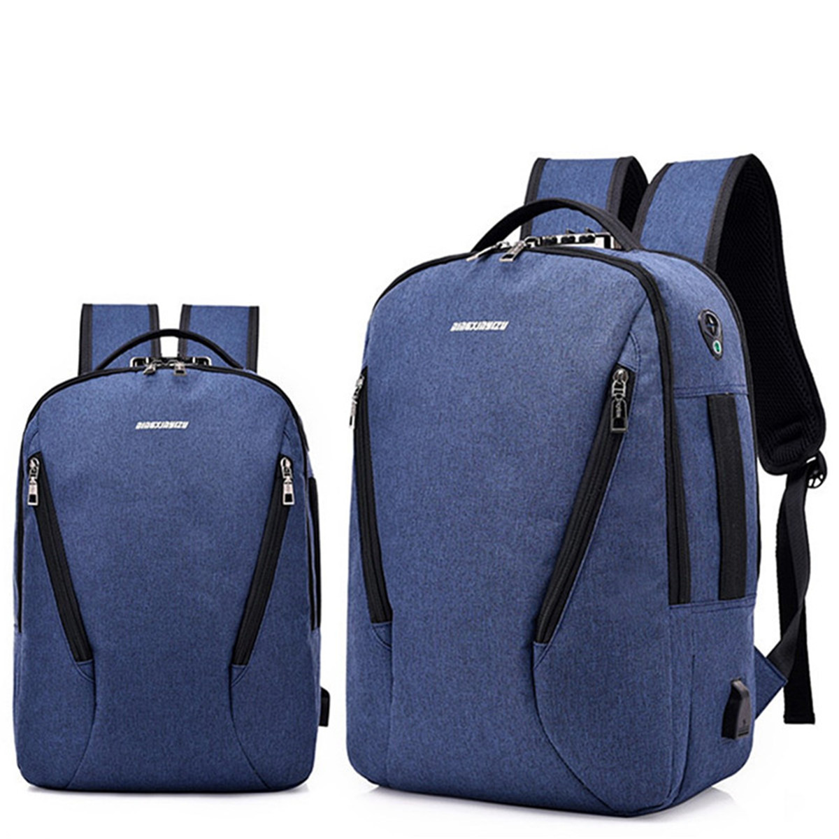 5009c491c123 Men Women Laptop Backpack School Travel Shoulder Bag With USB Charge ...
