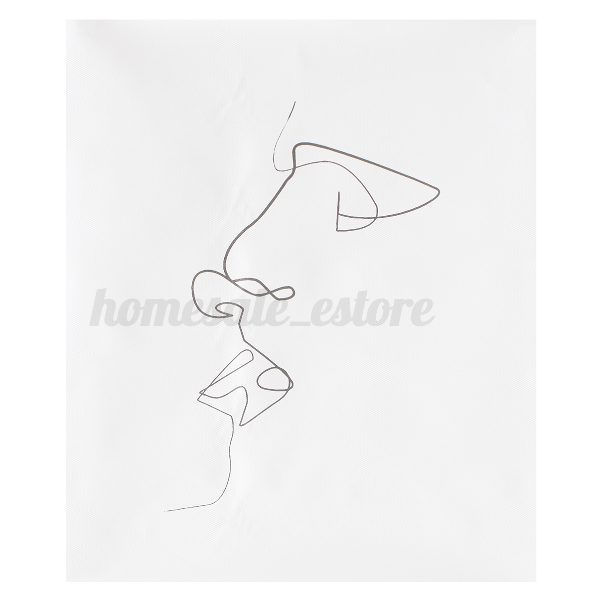 Simple Line Art Abstract : Abstract kiss simple line curve canvas print painting wall