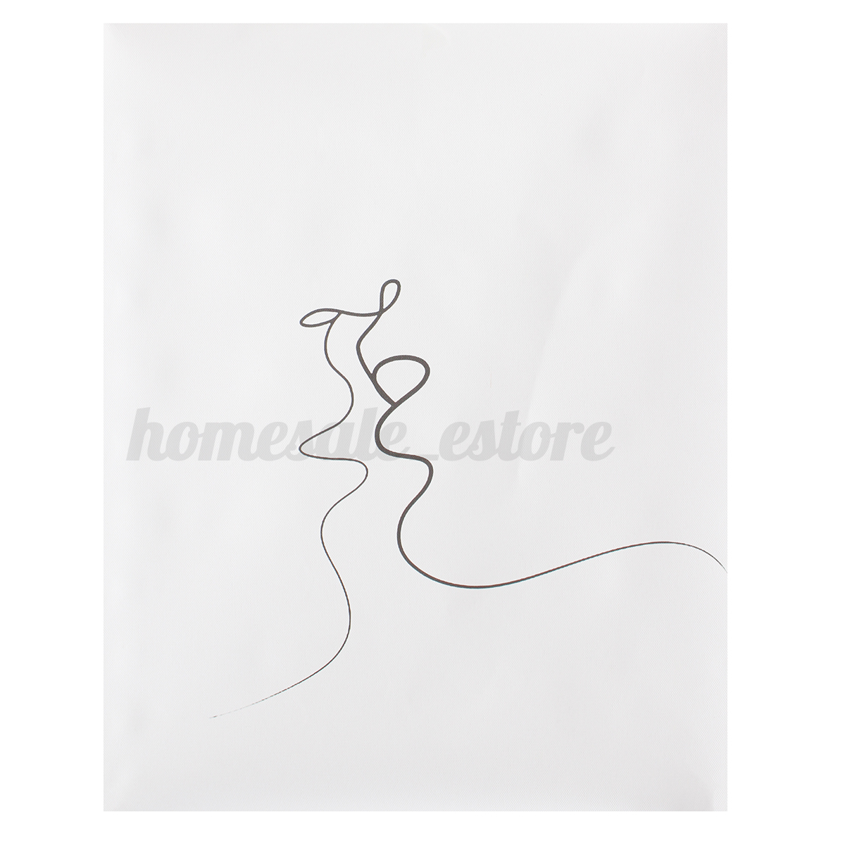 Abstract Kiss Simple Line Curve Canvas Print Painting