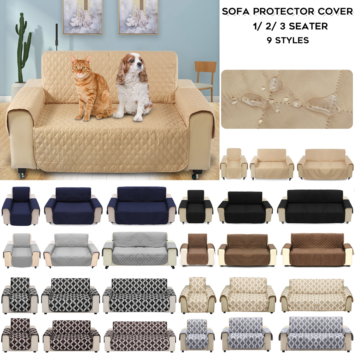 1 2 3 seat waterproof pet dog cat sofa slip cover furniture couch rh ebay com au
