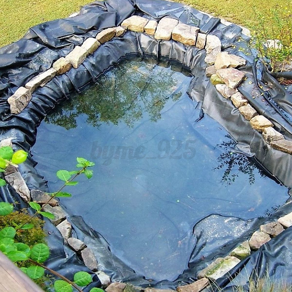 Hdpe heavy duty pond liner lining garden ponds 25 years for Koi pool liners