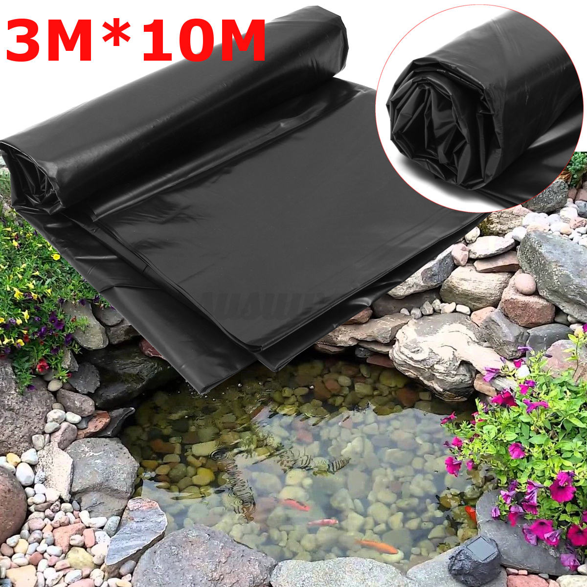 hdpe multi size durevole membrana fish pond liners per. Black Bedroom Furniture Sets. Home Design Ideas