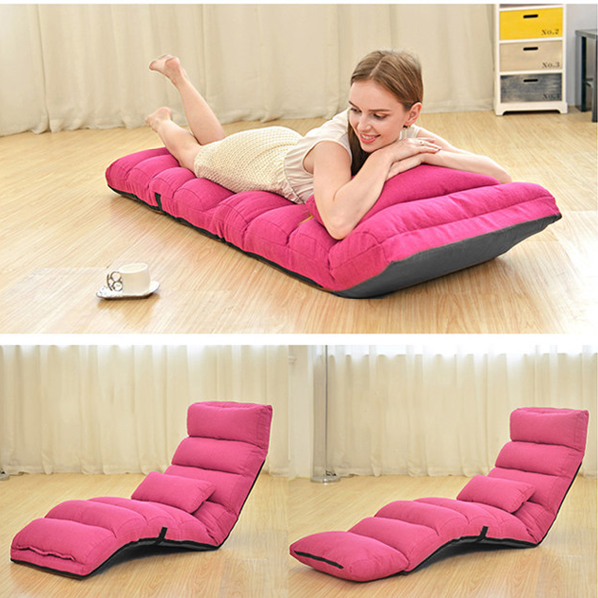 205 175cm removable foldable lazy sofa chair sofa couch bed lounge rh ebay com