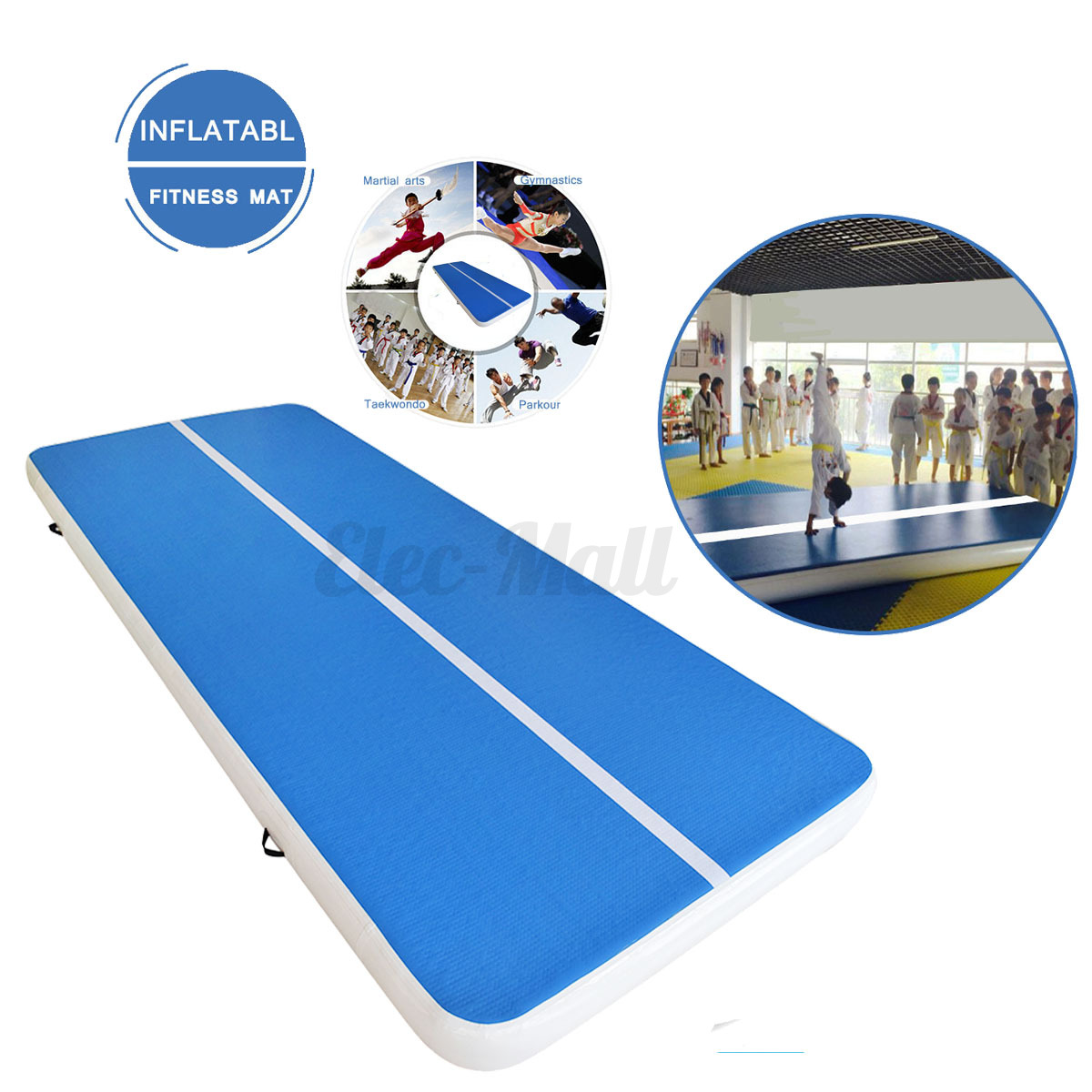 Inflatable Gym Mat Air Tumbling Track Floor Gymnastics