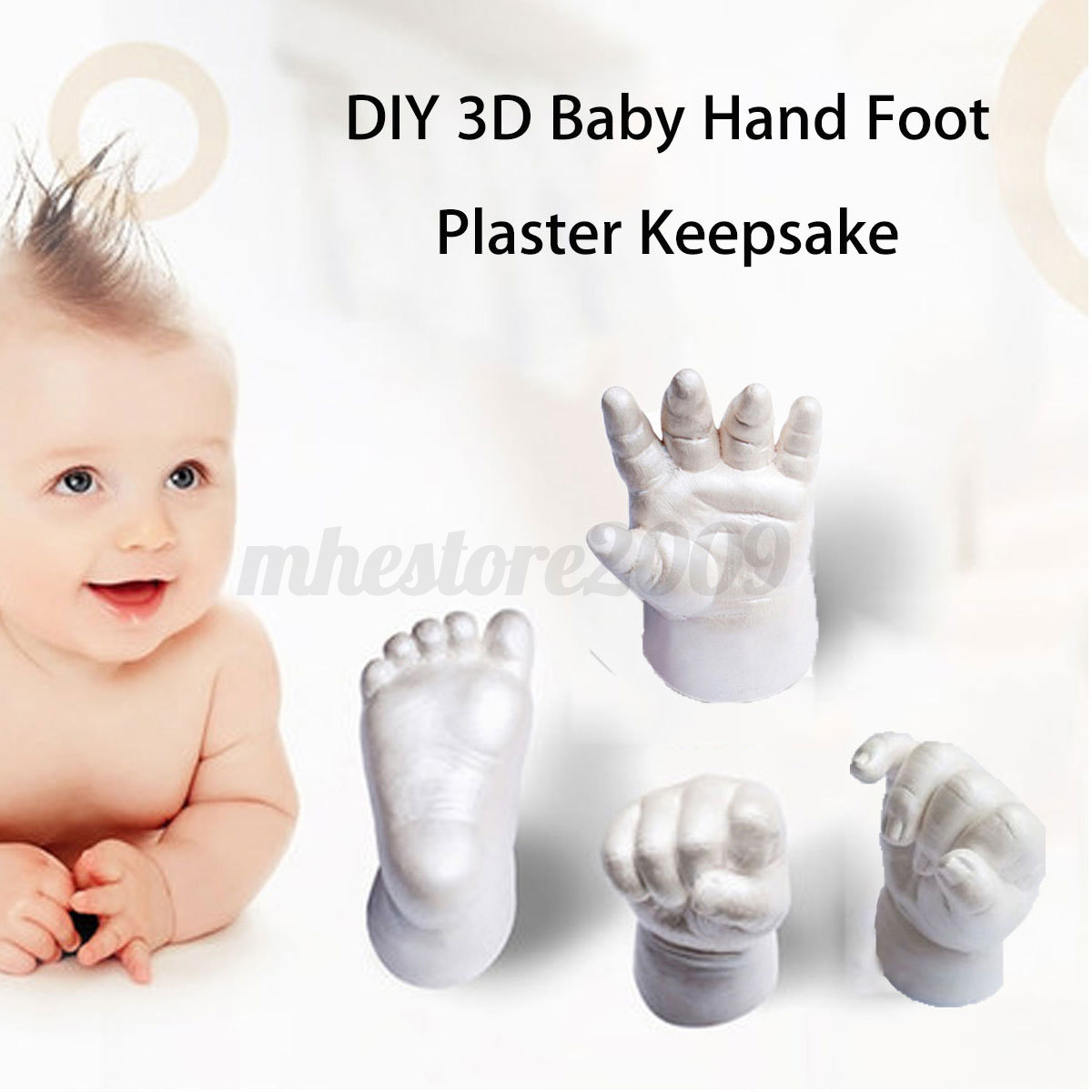 3d plaster handprints footprints baby adult hand foot. Black Bedroom Furniture Sets. Home Design Ideas