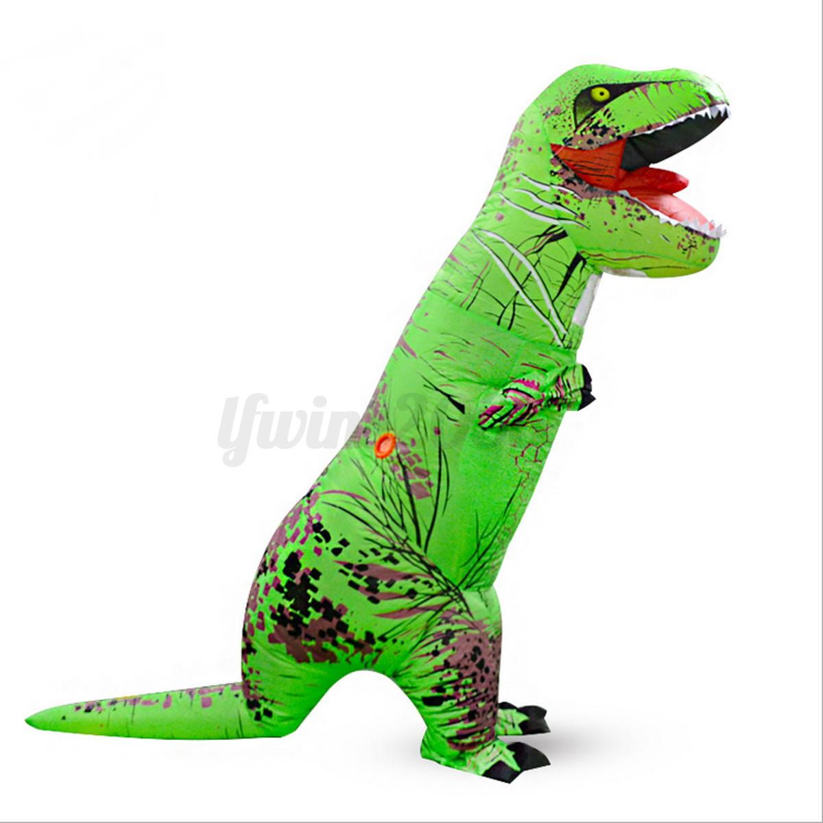 2 2m 5 farben aufblasbar t rex maskenkost m aufblasen dinosaurier overall kost m ebay. Black Bedroom Furniture Sets. Home Design Ideas