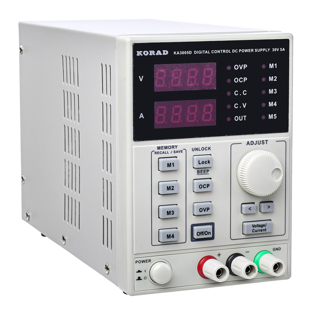 Laboratory-DC-Bench-Power-Supply-Variable-Benchtop-0-30V-0-5A-LCD-Display thumbnail 2