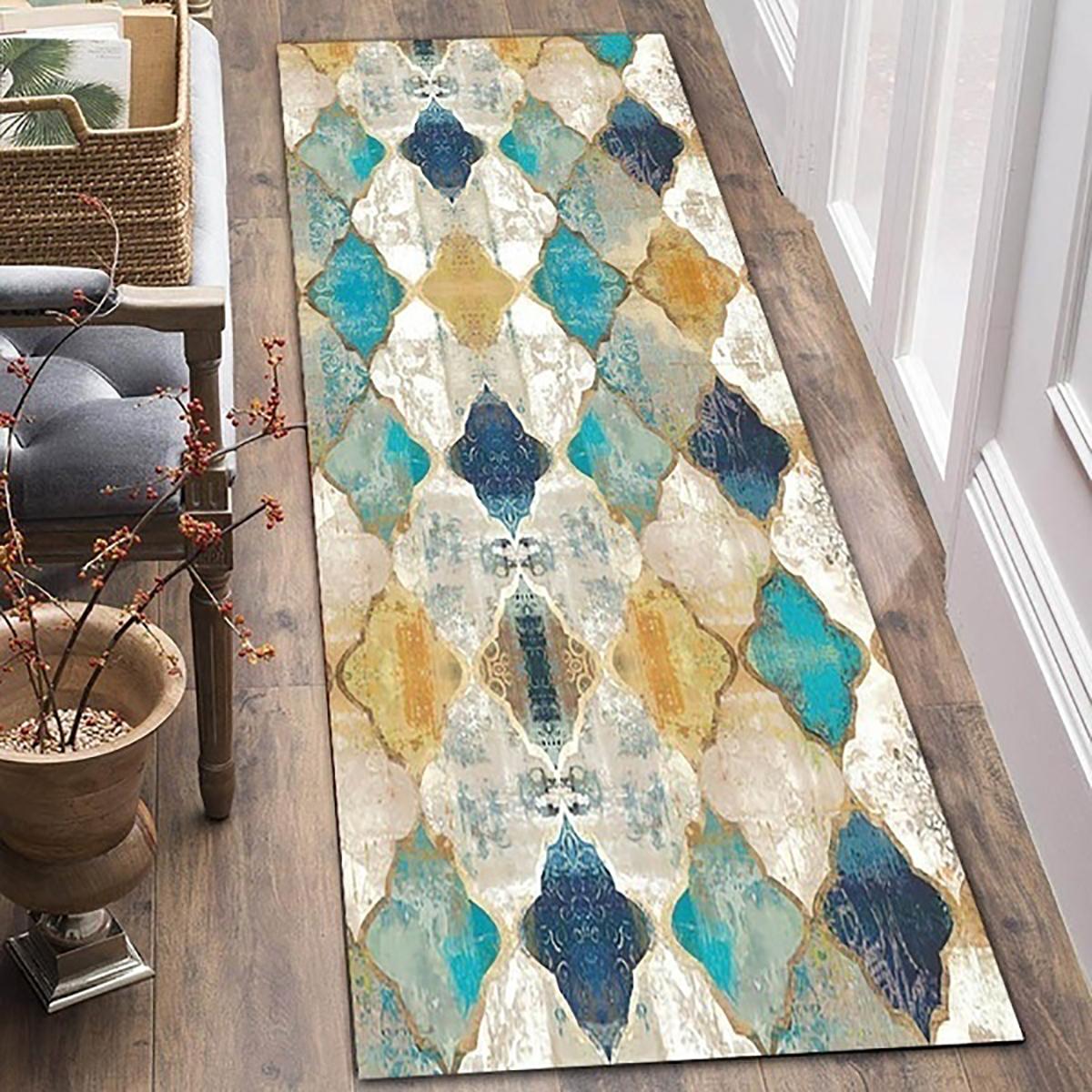 Large Floor Rug Light Trellis Lounges Moroccan Carpet Kitchen Living Room Mat Au Ebay