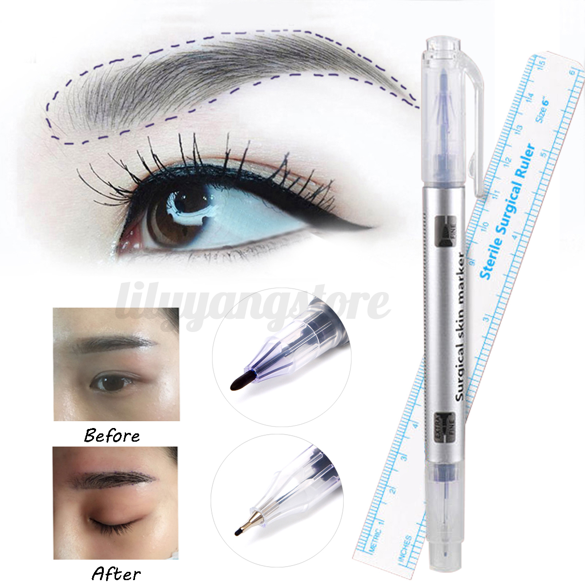 Pro microblading permanent 3d makeup eyebrow tattoo needle for Tattoo pen kit