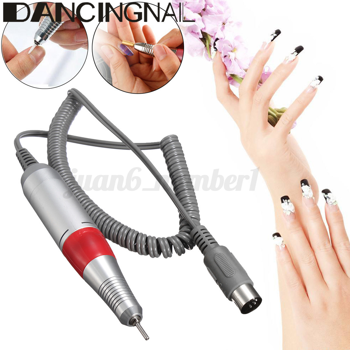 Portable Rechargeable 30000RPM Electric NAIL FILE DRILL Manicure ...