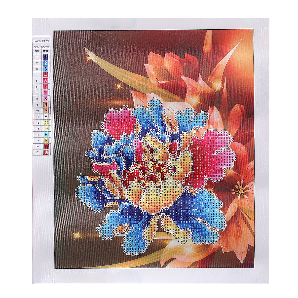 Diy d diamond painting embroidery flower cross crafts