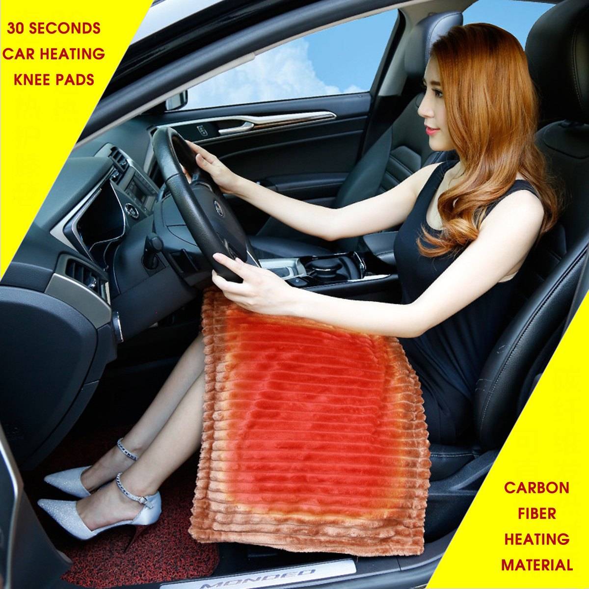 12v Auto Heated Blanket Travel Rug Car Caravan