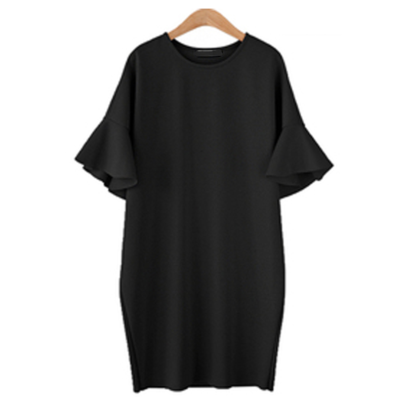 AU-8-24-Women-Ruffled-Short-Sleeve-Casual-Loose-Long-Tops-Shirt-Dress-Plus-Size