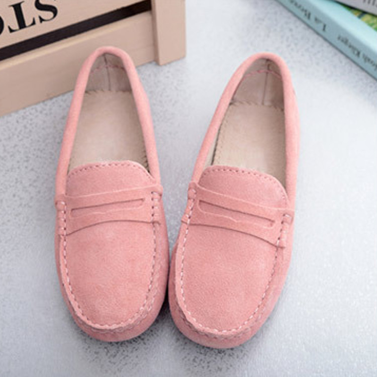 Women-039-s-Loafers-Ladies-039-Suede-Leather-Driving-Shoes-Moccasins-Slipper-Flats
