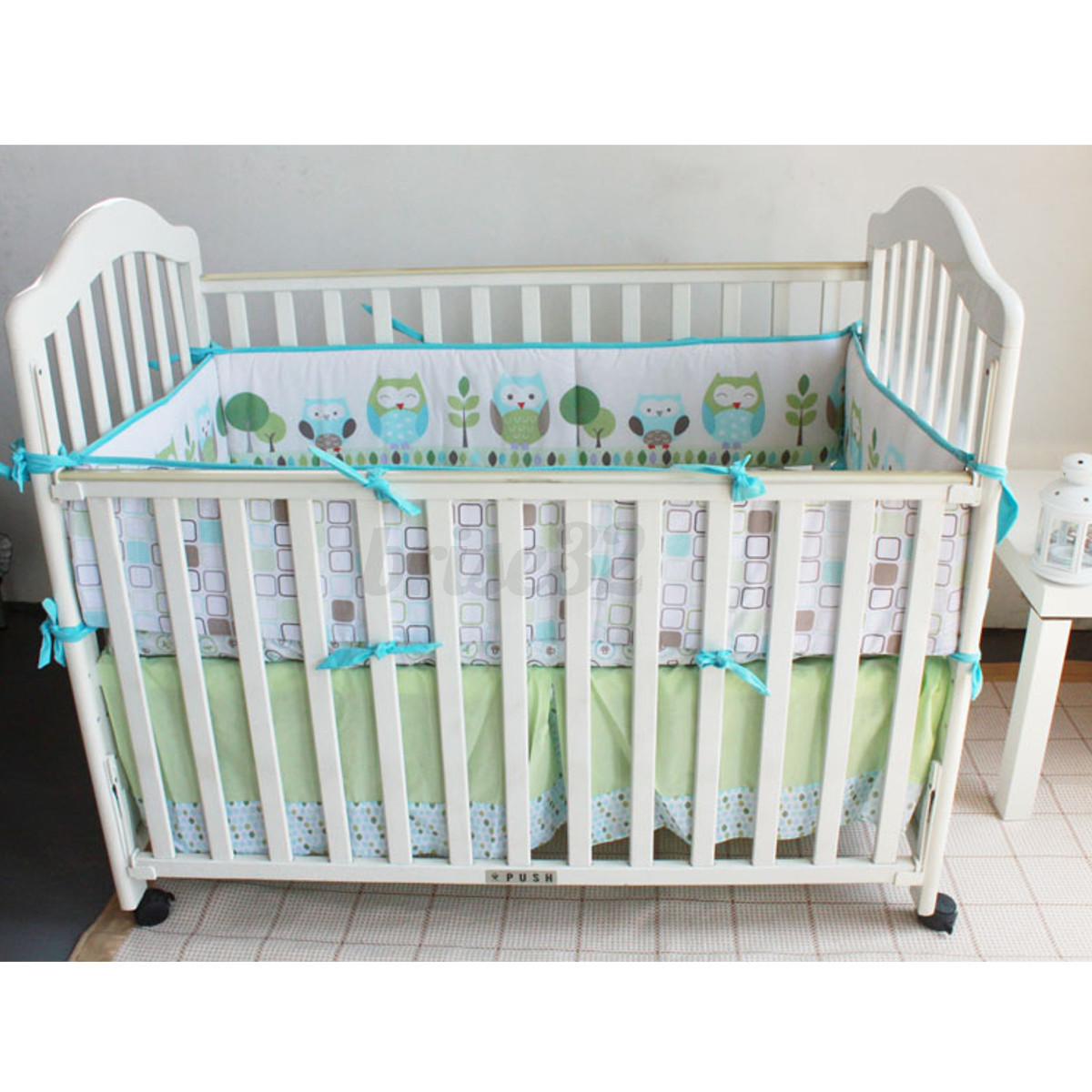 4Pcs Set Baby Infant Cot Crib Bumper Safety Protector