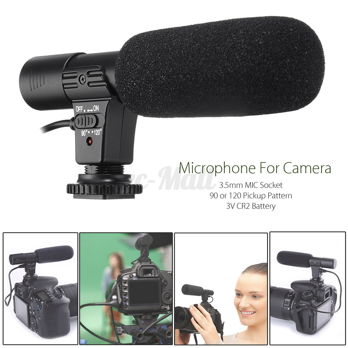 35mm External Stereo Microphone For Canon Nikon Dslr Camera Dv Boya By M1 Clip On Mic Sony Kamera Universal Video Camcorder Iphone 1 Of 11free Shipping