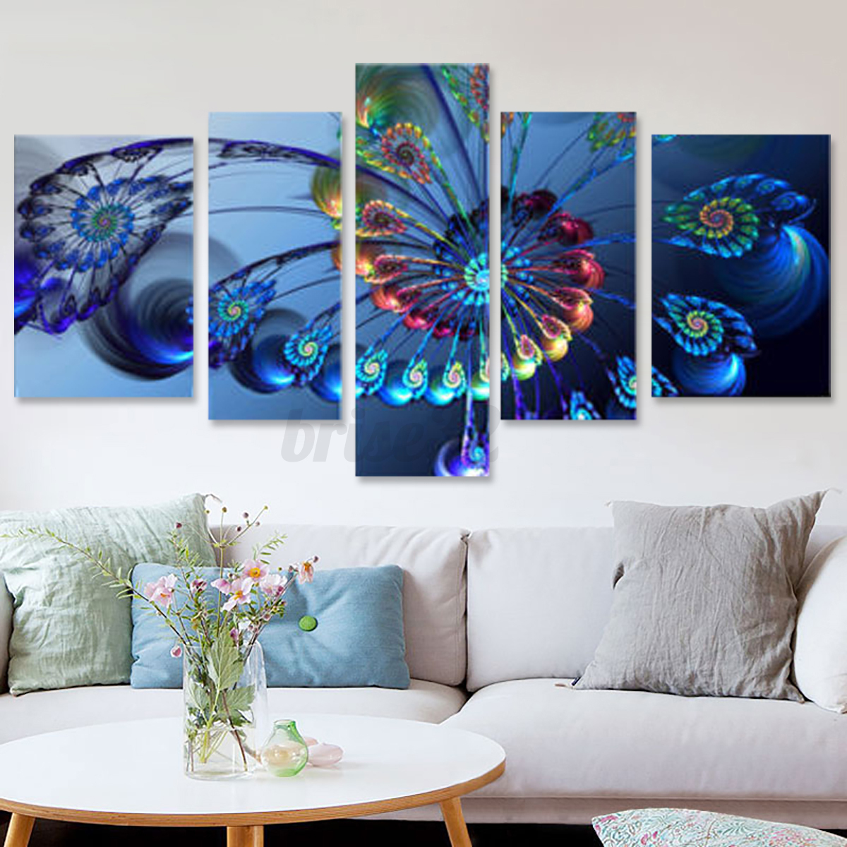 Q Home Decor: 5Pcs Canvas Print Painting Wall Picture Modern Home Art