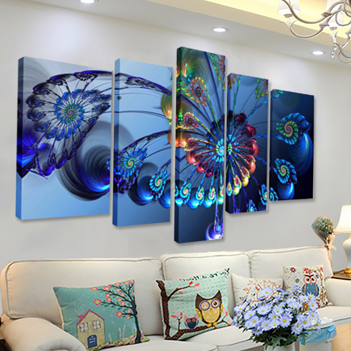 5pcs Canvas Print Painting Wall Picture Modern Home