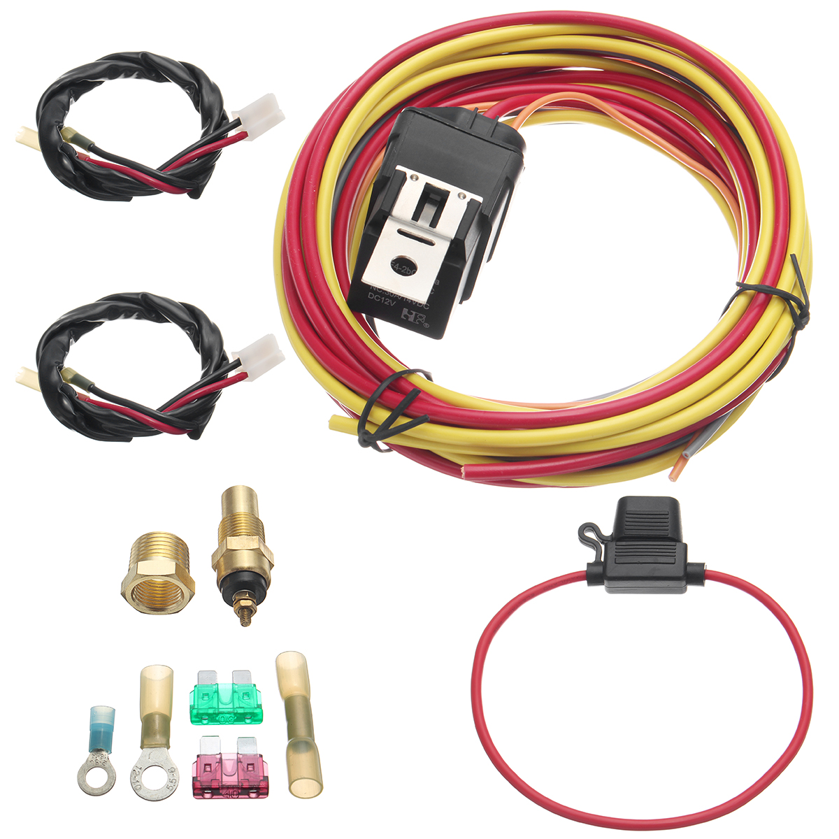 Single Electric Cooling Fan Dual Relay Kit We Make Wiring That Easy