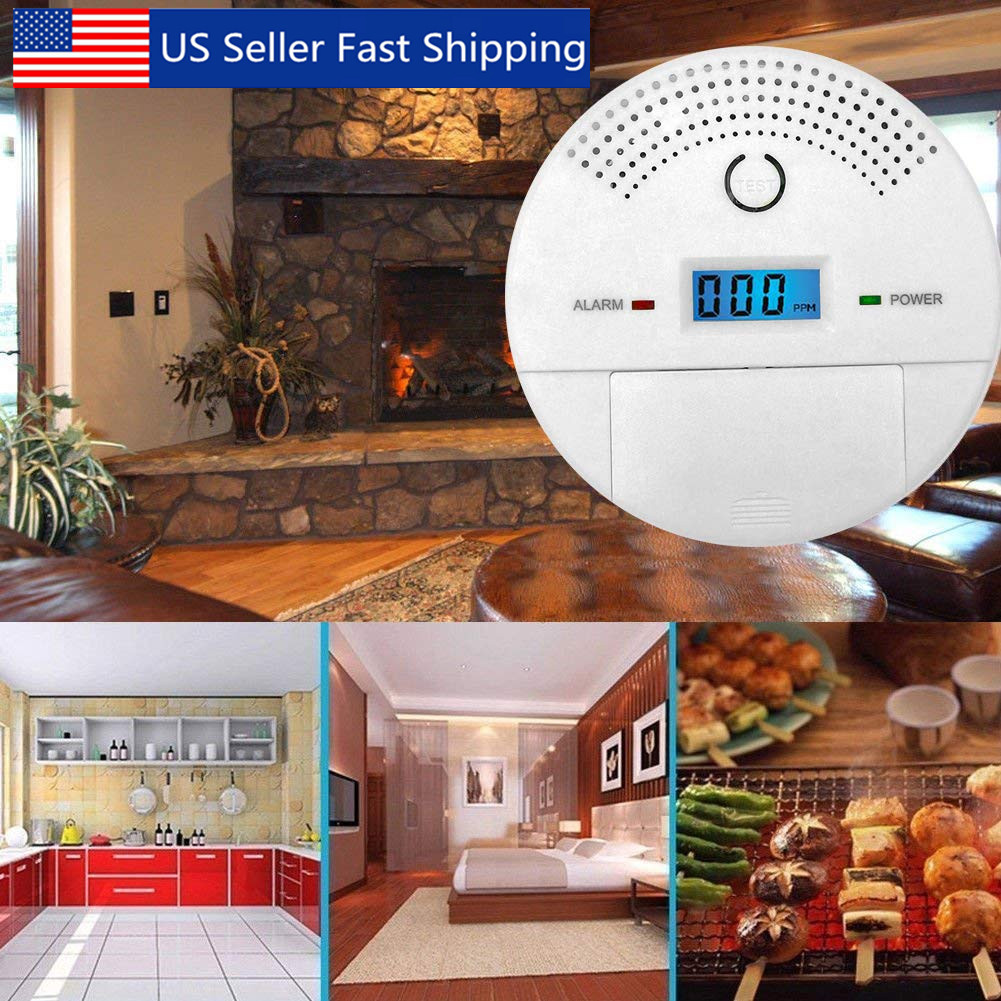2 In 1 Carbon Monoxide Smoke Alarm Detector Co Tester Home