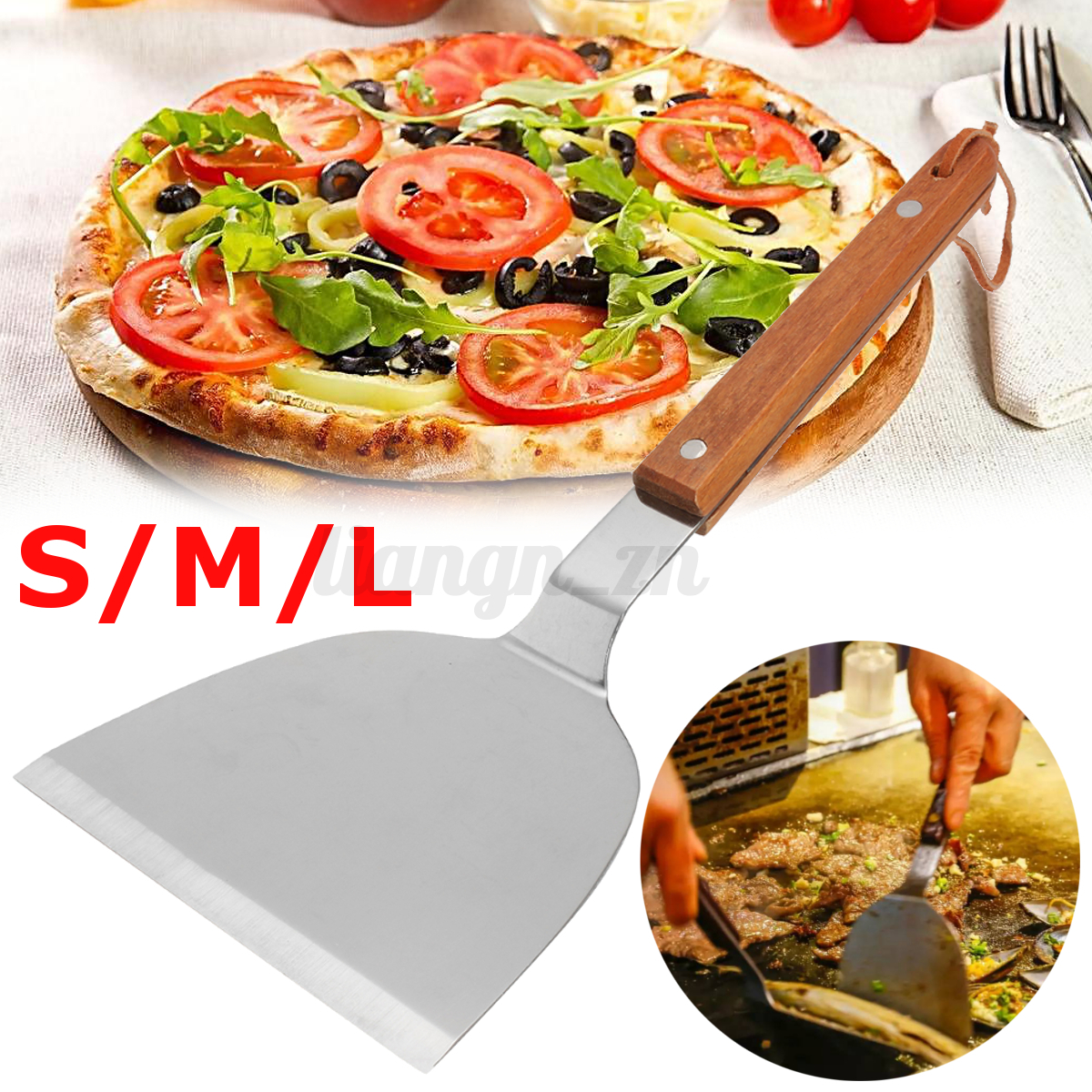 inox spatule g teau p tisserie pizza coupe raclette lame outil cuisine ustensile ebay. Black Bedroom Furniture Sets. Home Design Ideas