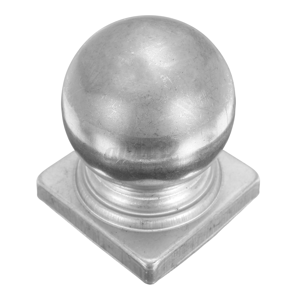 Mm silver metal square round finial gate fence