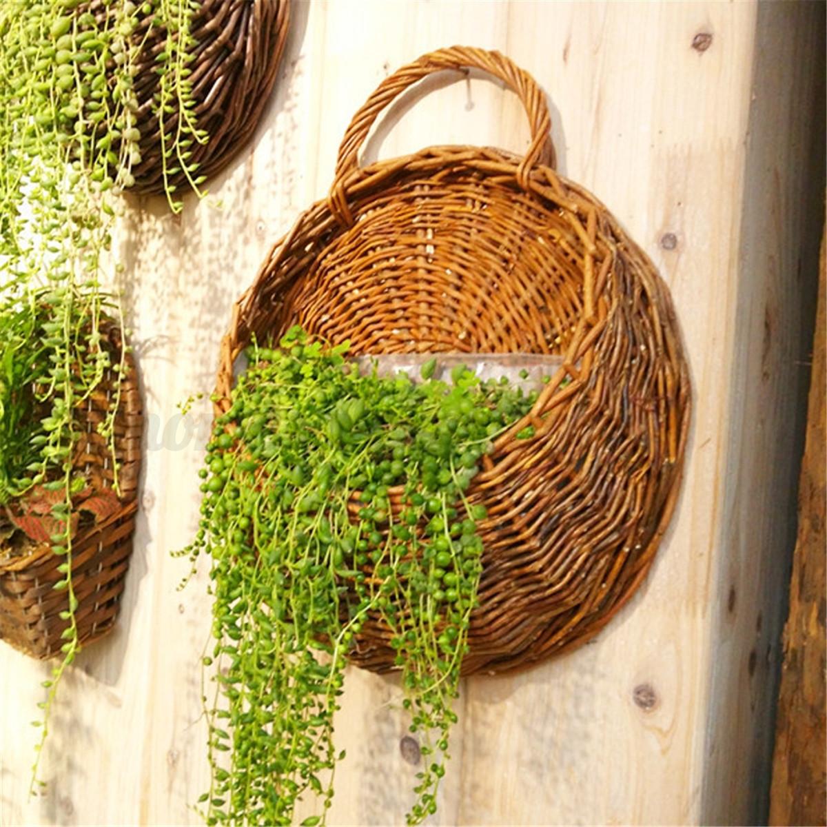 Flower Planter Wall Hanging Basket Garden Outdoor Indoor