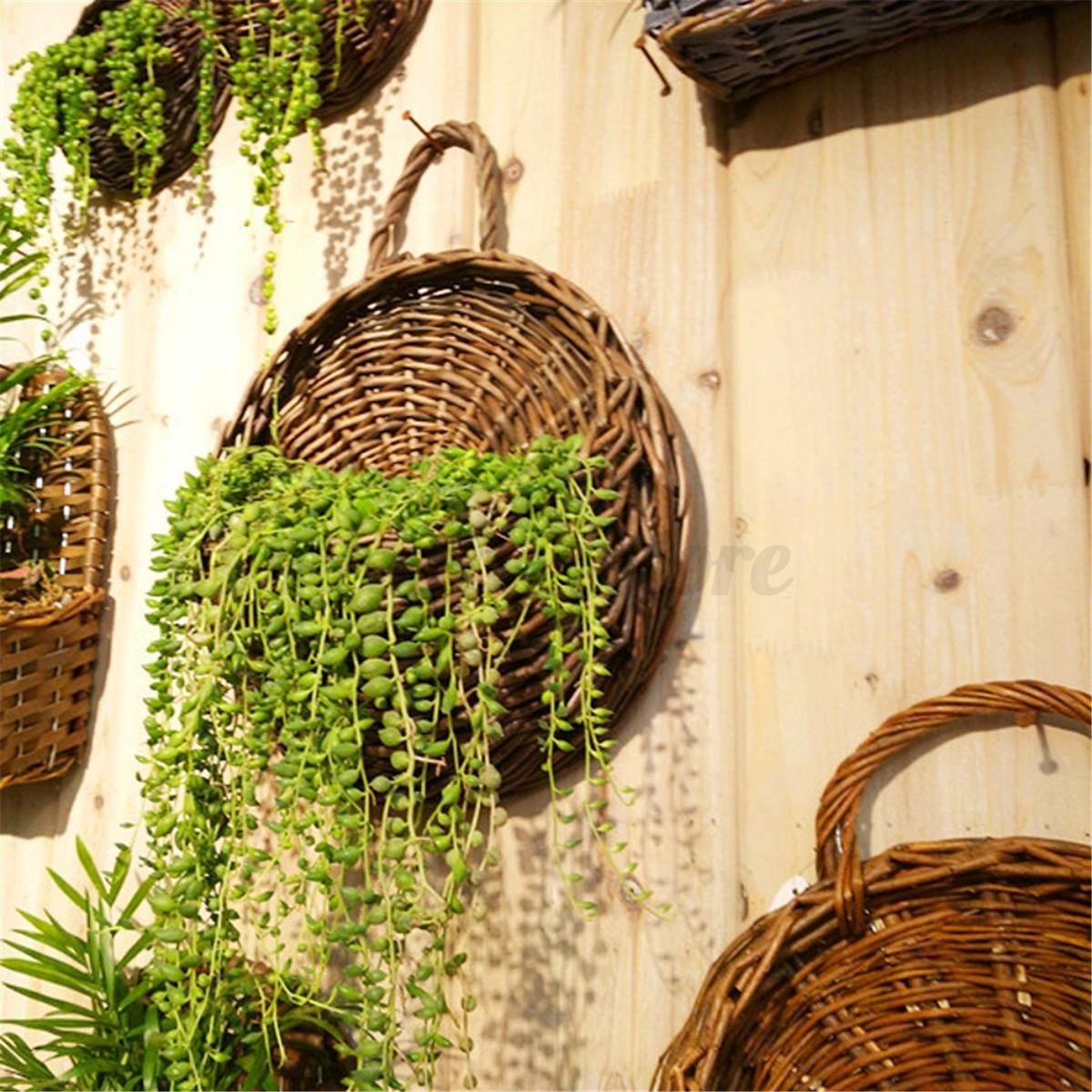 Flower Planter Wall Hanging Basket Garden Outdoor Indoor Holder Home ...