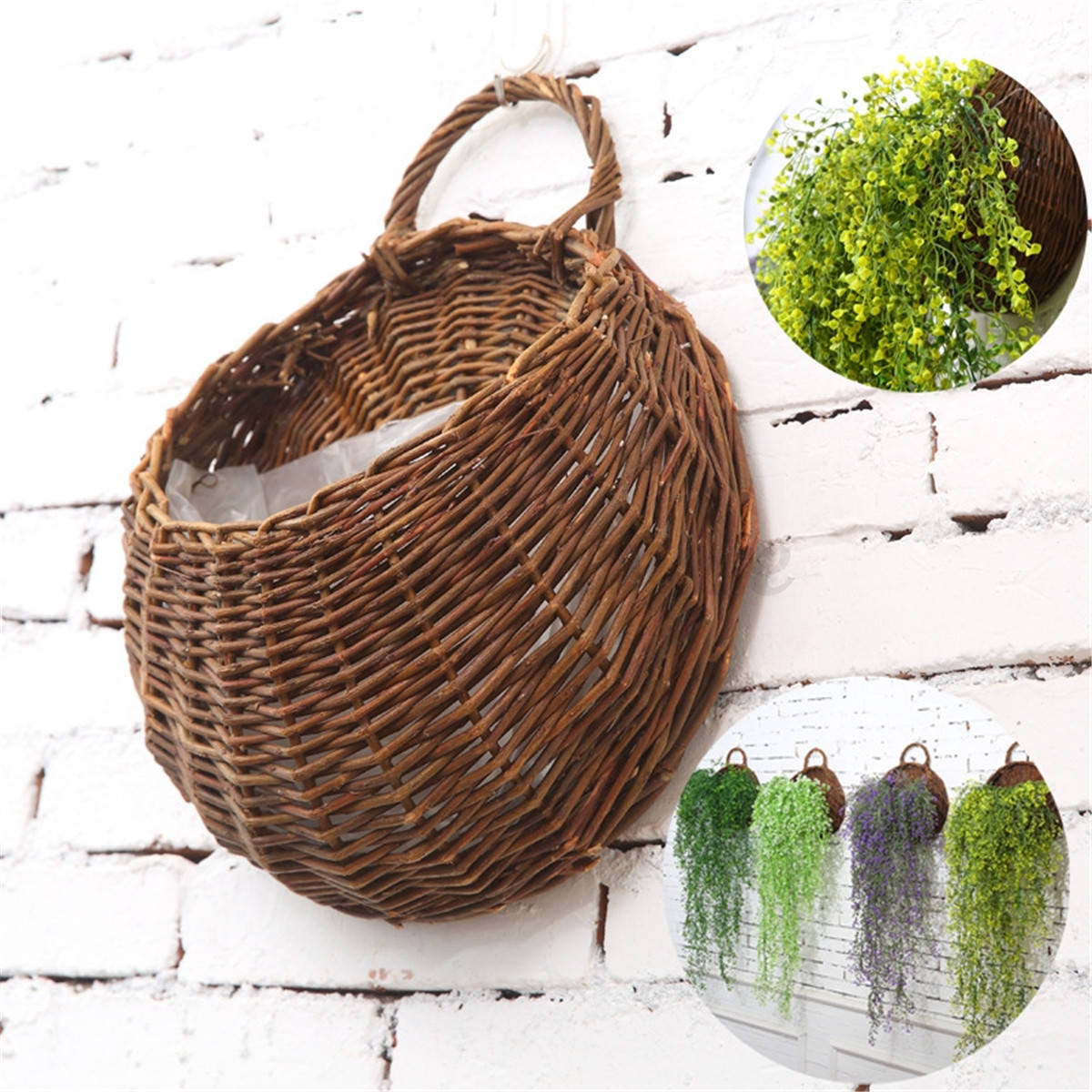 Flower Planter Wall Hanging Basket Garden Outdoor Indoor Holder Home Decoration