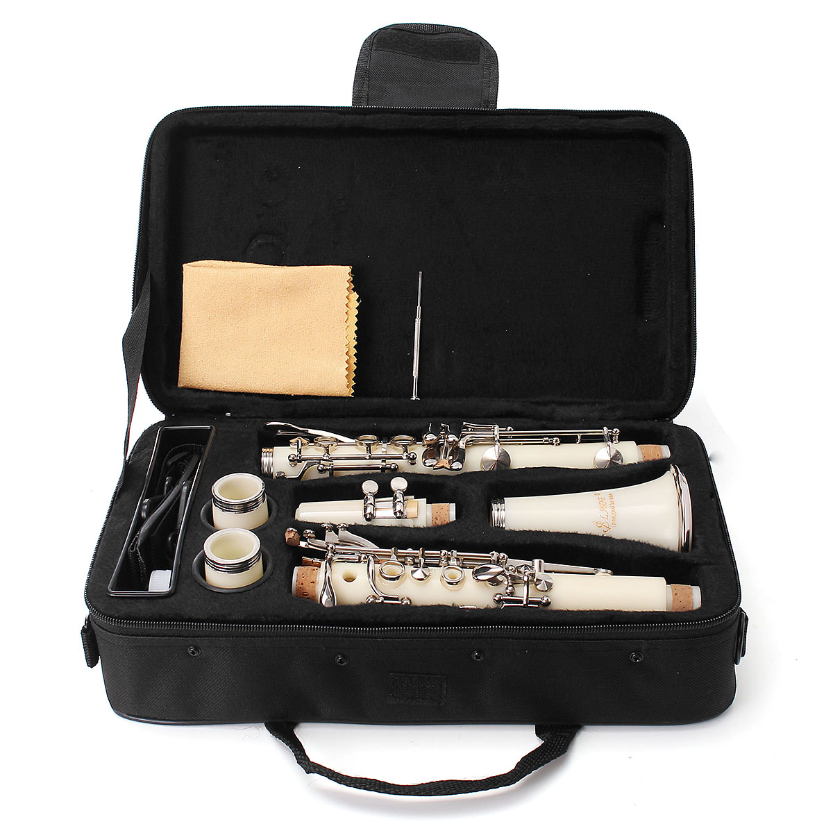 Bb-Clarinet-Professional-Musical-Instruments-Beginner-with-Padded-Case-5-Colors