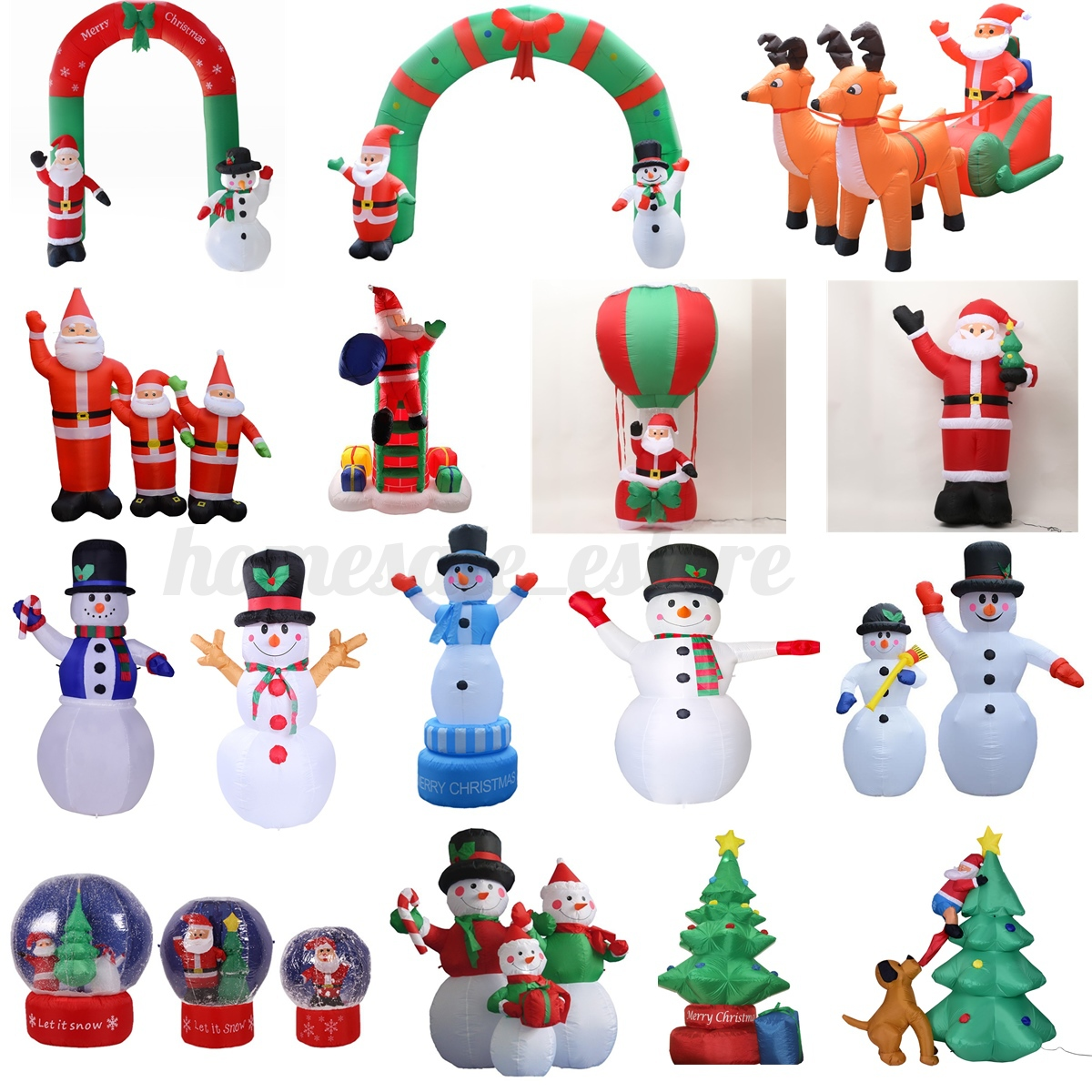 Christmas Outdoor Inflatable Arch Santa Claus Snowman Xmas Tree Shop ...