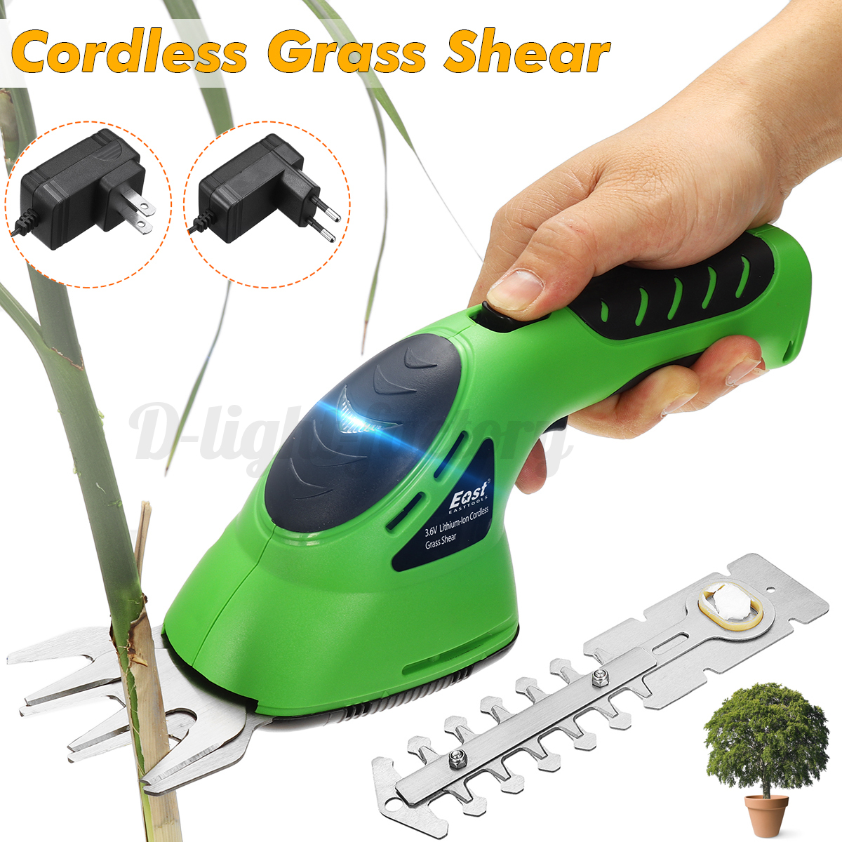 Cordless-Grass-Shear-Lawnmower-Garden-Pruning-Hedge-Trimmer-Rod-Wheel-Holder thumbnail 4