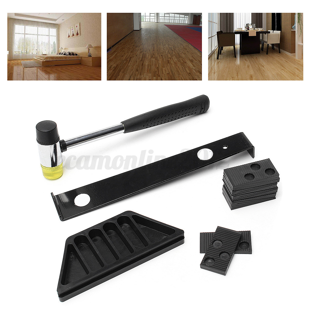 Wood flooring laminate installation kit set wooden floor for Floor installation