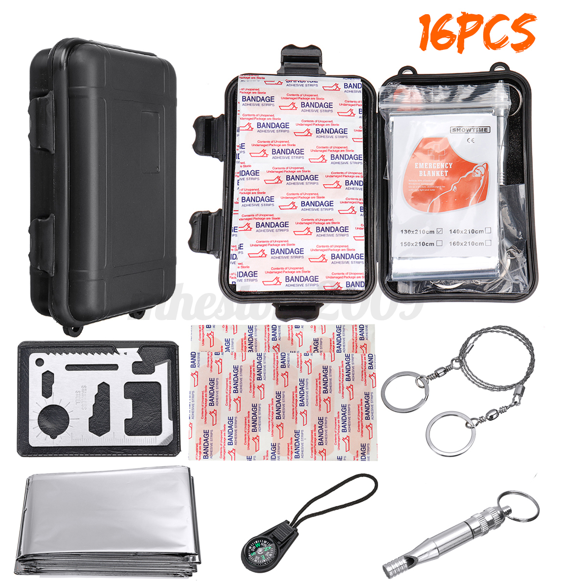 Outdoor-SOS-Emergency-Survival-Equipment-Kit-Gear-Tool-Tactical-Camping-Hunting thumbnail 11
