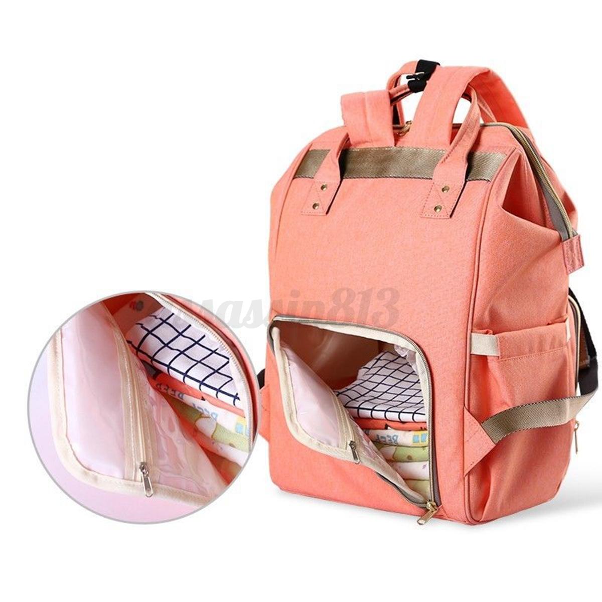 multifunctional baby diaper nappy bag backpack mommy handbag bottle rucksack hot. Black Bedroom Furniture Sets. Home Design Ideas