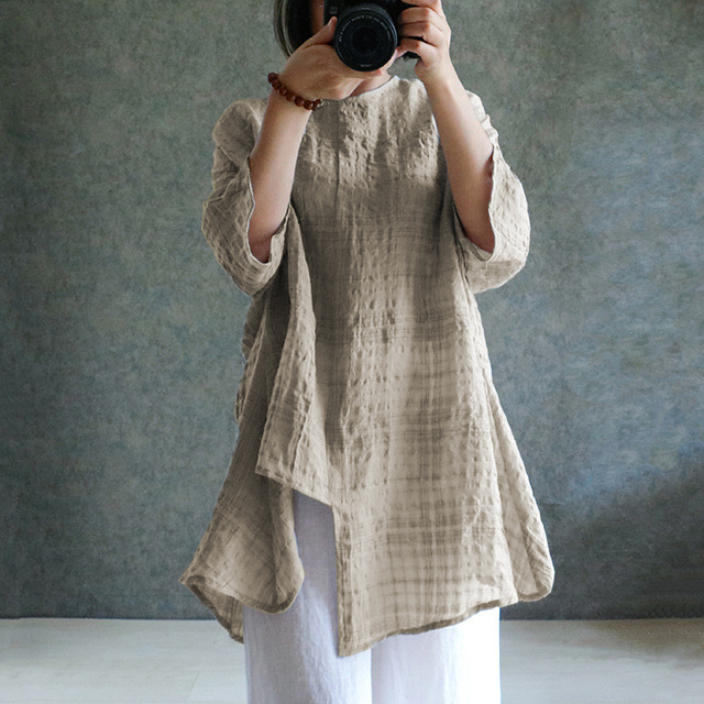 578d7916f4 US STOCK Womens Casual Cotton Linen Loose Beach Maxi Long Dress Top ...